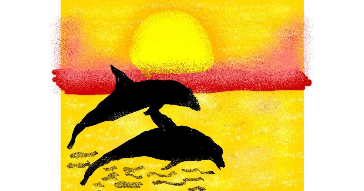Dolphin drawing by Cherri
