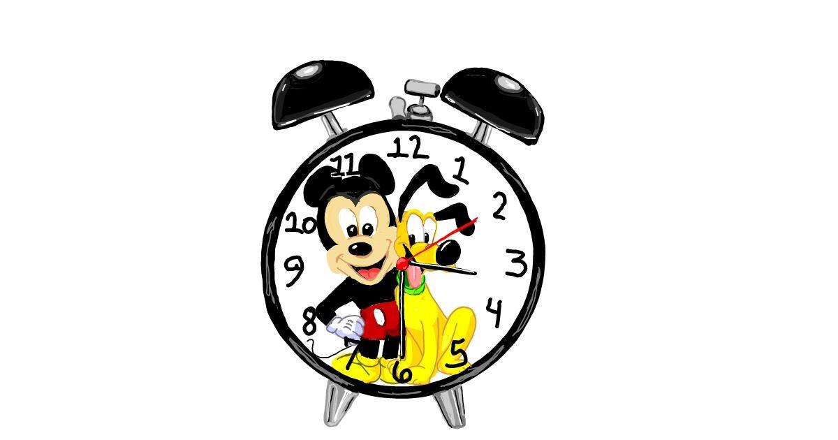 Alarm clock drawing by Geo-Pebbles