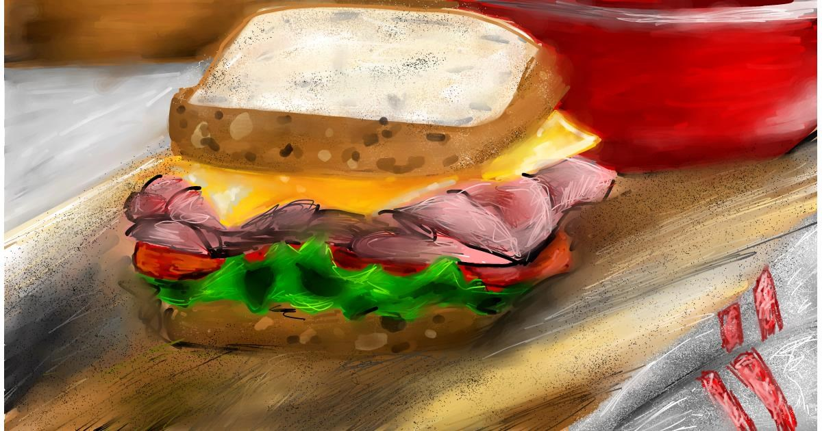 Drawing of Sandwich by Soaring Sunshine