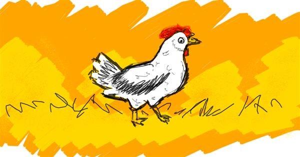 Chicken drawing by DemonDoggo~~
