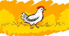 Drawing of Chicken by DemonDoggo~~