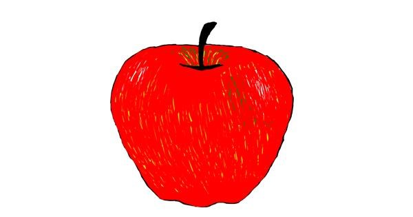 Apple drawing by Lilli