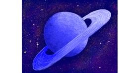 Saturn drawing by Darta