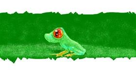Frog drawing by 7y3e1l1l0o§