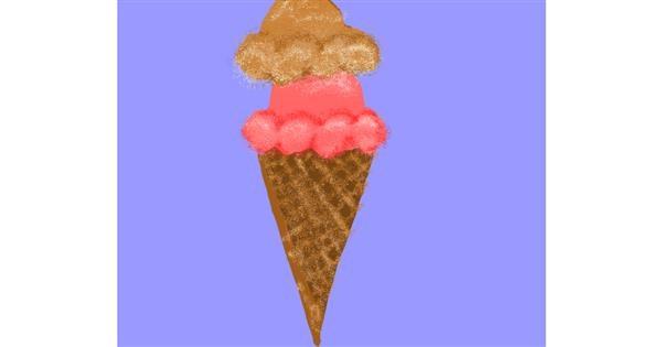 Ice cream drawing by Cherri