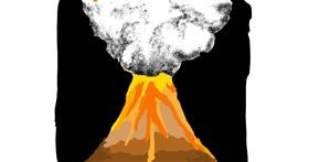 Volcano drawing by Lsk