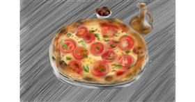 Drawing of Pizza by Wizard
