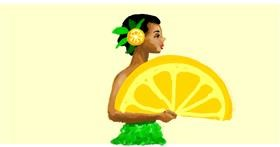 Lemon drawing by Helena