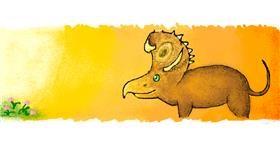 Dinosaur drawing by 7y3e1l1l0o§