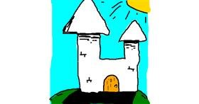 Drawing of Castle by Doodling Ninja
