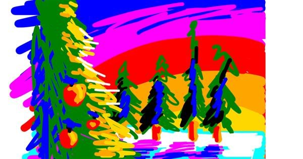 Christmas tree drawing by Ghoest