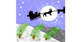 Sleigh drawing by kenan