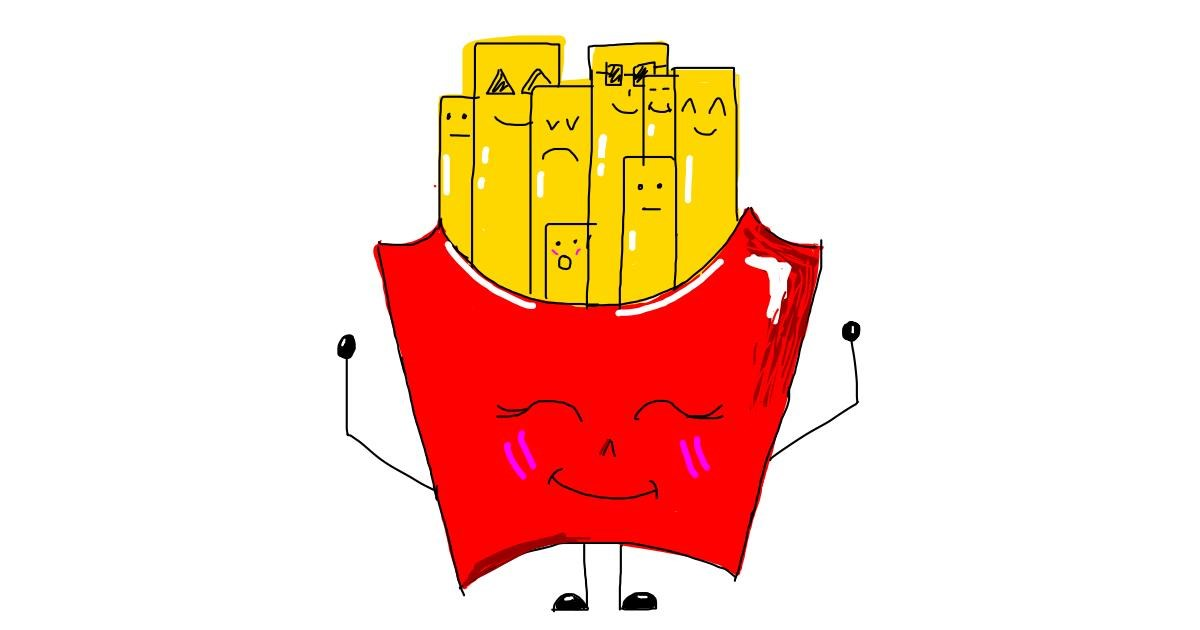 Drawing of French fries by marie