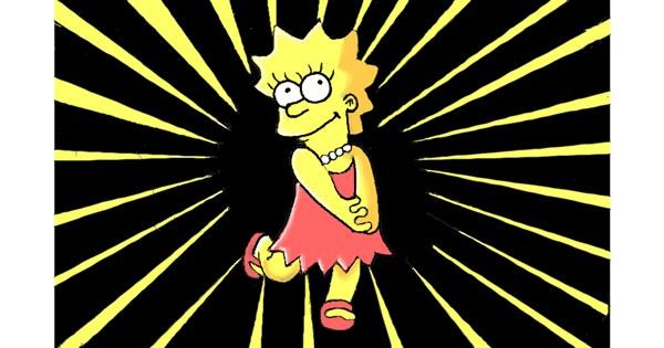 Lisa Simpson drawing by GJP