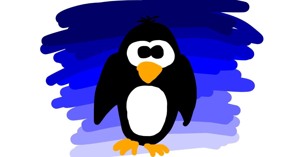 Penguin drawing by Daniela