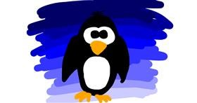 Drawing of Penguin by Daniela