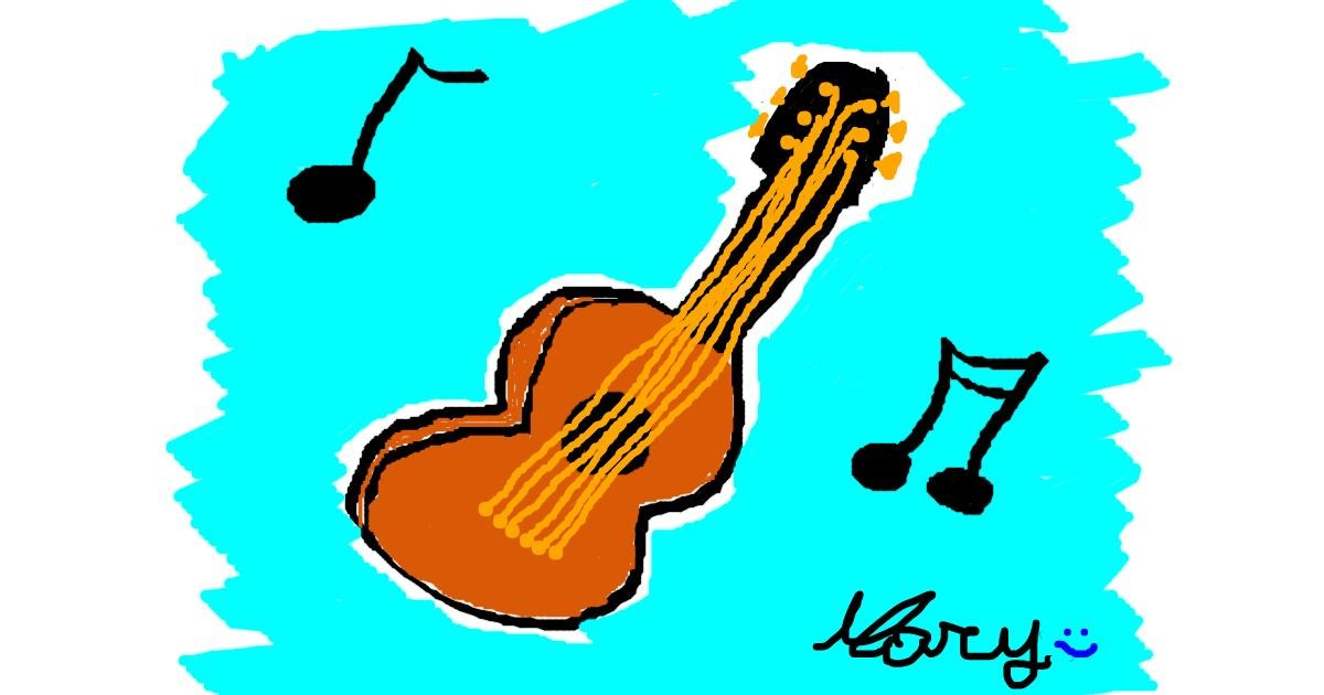 Guitar drawing by mary