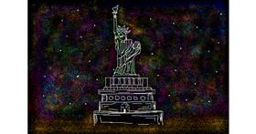 Statue of Liberty drawing by saraharts