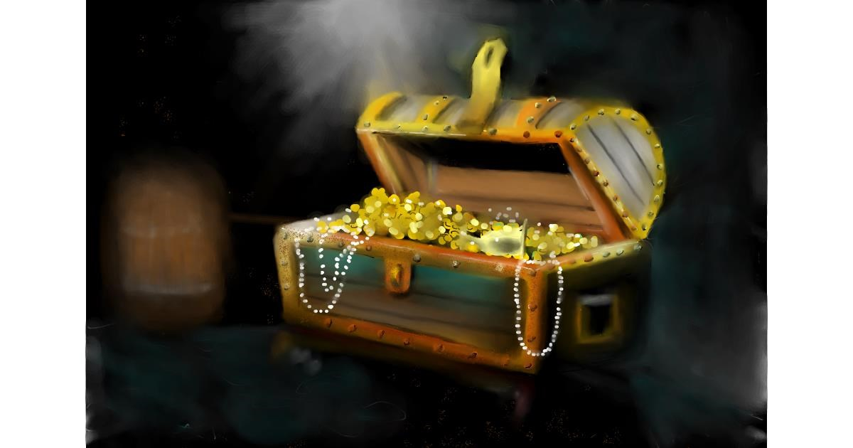 Drawing of Treasure chest by Wizard
