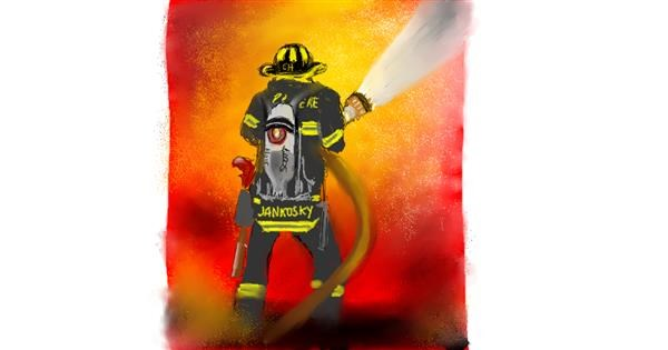 Firefighter drawing by Rush