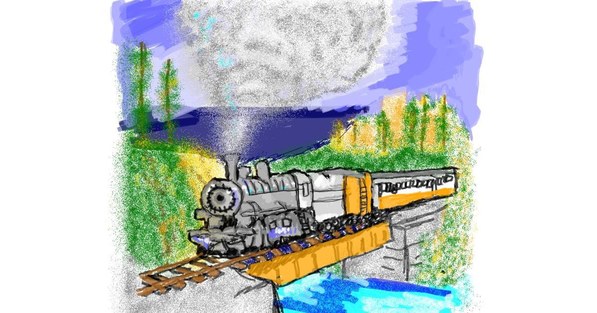 Train drawing by Mercy