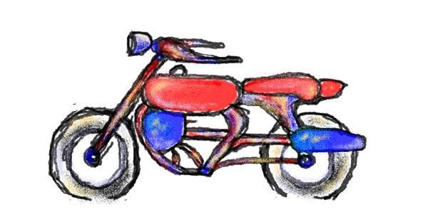 Motorbike drawing by hahah