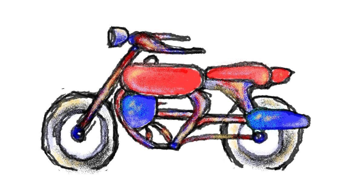 Motorbike drawing by hahah