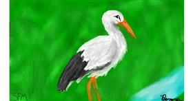 Stork drawing by Banana