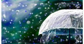 Drawing of Umbrella by Soaring Sunshine