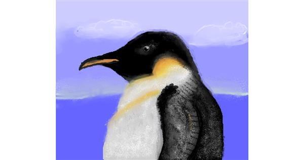 Penguin drawing by MRPANDA2