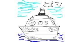 Boat drawing by tt