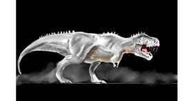 T-rex dinosaur drawing by GJP