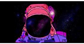 Astronaut drawing by Helena