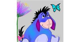 Drawing of Donkey by Zeemal
