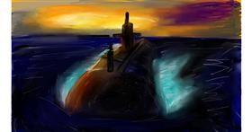 Submarine drawing by Soaring Sunshine