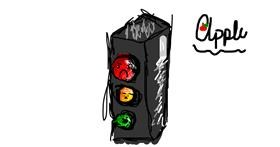 Traffic light drawing by Apple