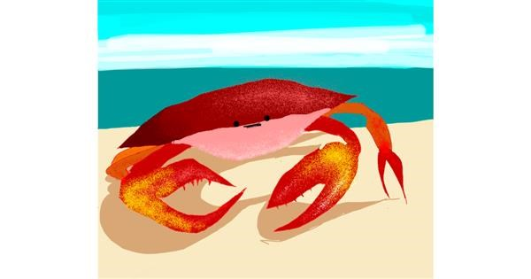 Crab drawing by Darta