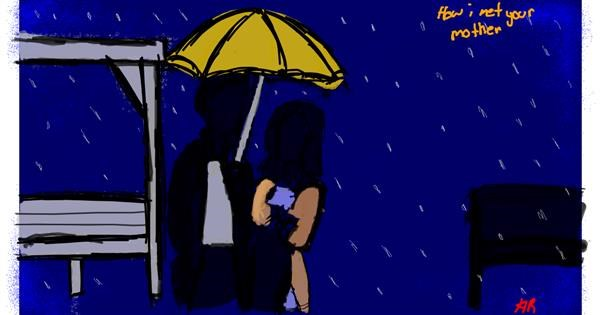 Umbrella drawing by Obnoxious But Consistent