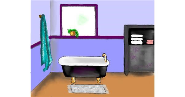 Bathtub drawing by Cec