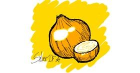 Onion drawing by Silver_DF