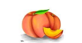 Drawing of Peach by Bishakha