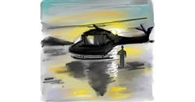 Helicopter drawing by Ankita Sharma