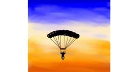 Drawing of Parachute by Joze