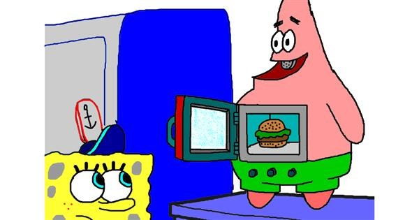 Microwave drawing by InessaC