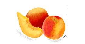 Peach drawing by Nonuvyrbiznis