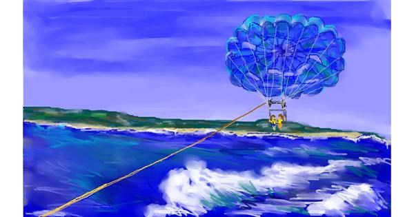 Parachute drawing by Sky