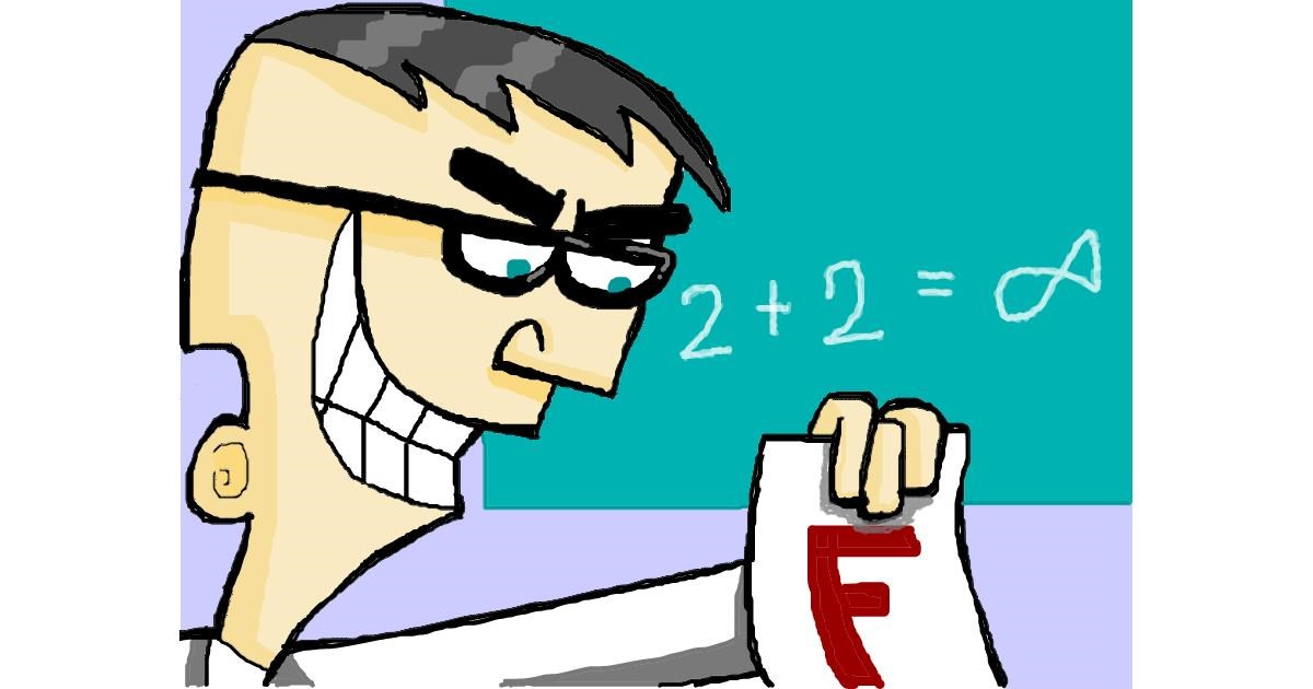 Teacher drawing by bjorn