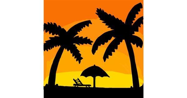 Palm tree drawing by MaRi