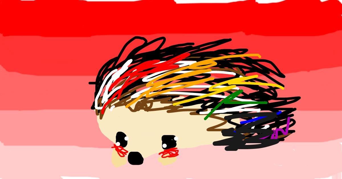 Hedgehog drawing by Star
