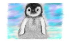 Drawing of Penguin by Sara